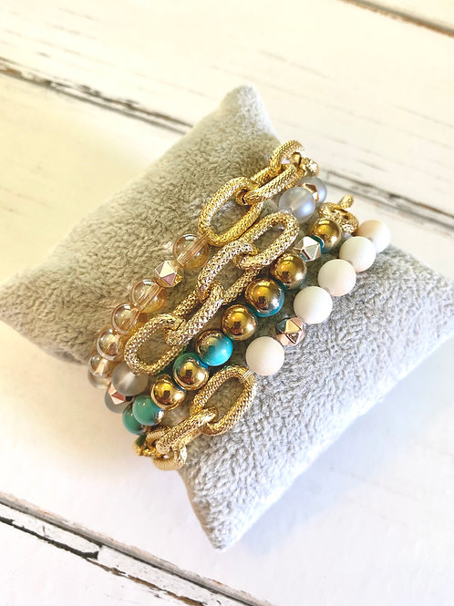 Coastal Stretch Bracelet Set