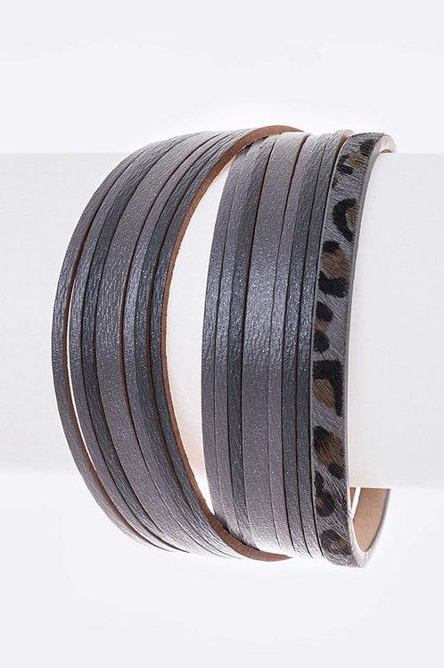 Mix Leather Magnetic Bracelets