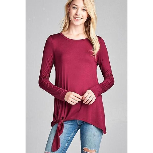 Keeping It Simple Side Knot Top