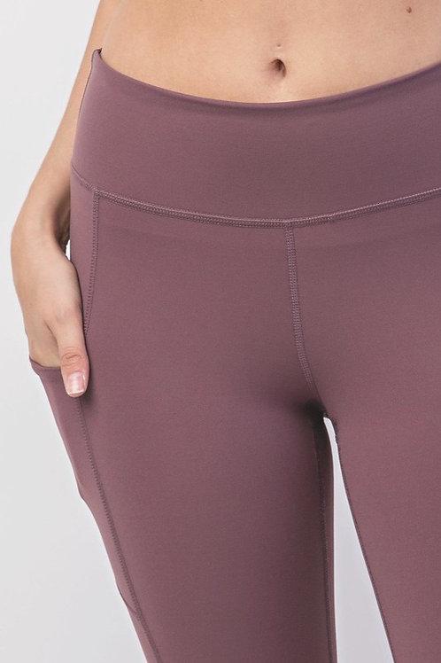 Buttery Soft Yoga Leggings, Dark Mauve
