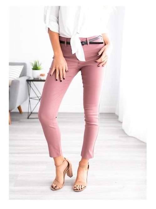 Classic Skinny Pants, Dusty Pink