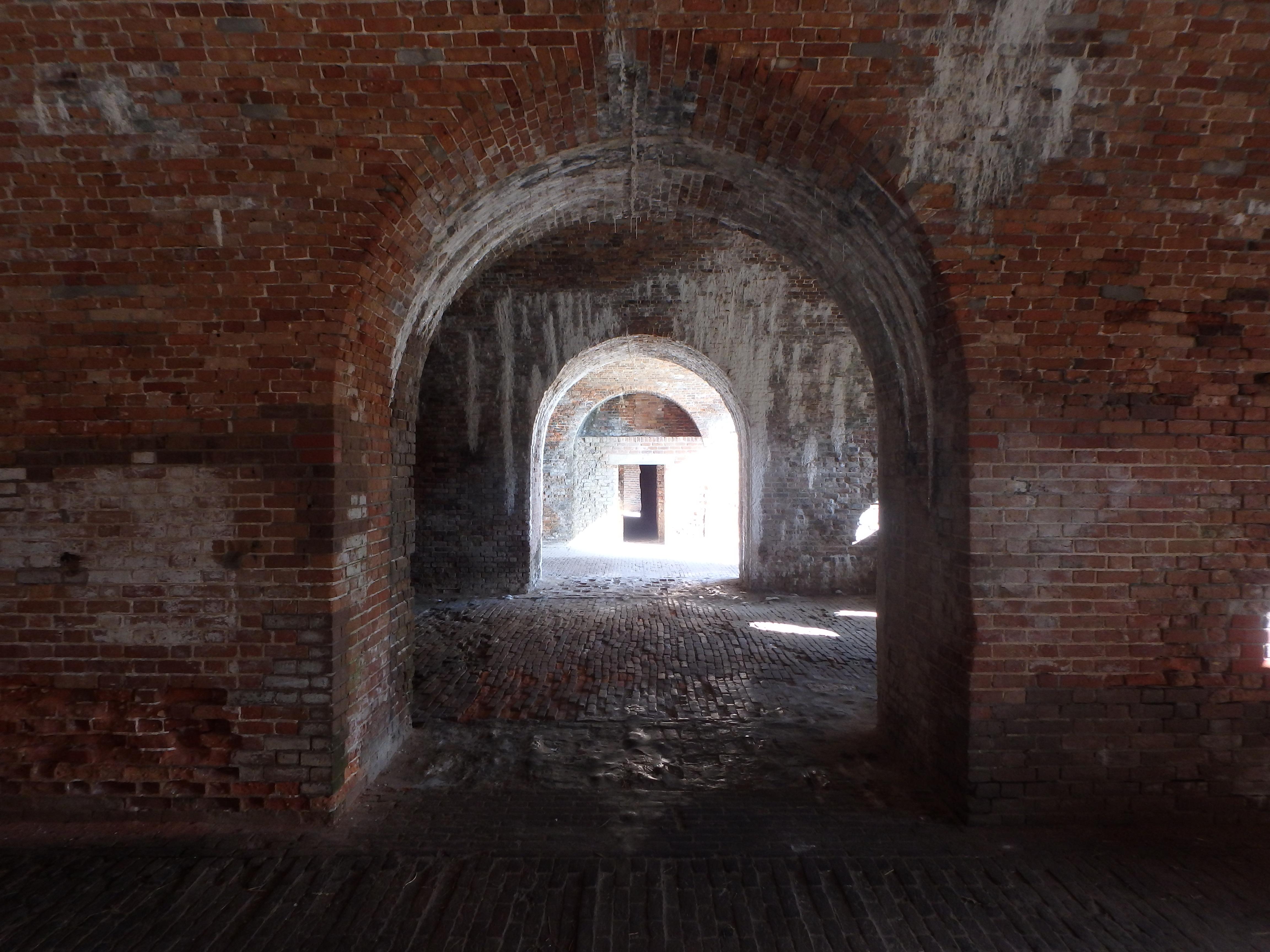 Inside Fort Morgan