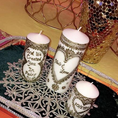 3 candle set