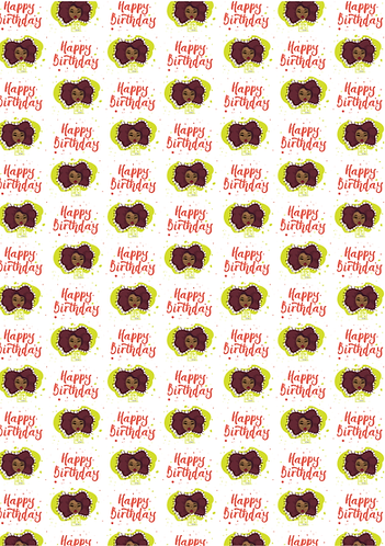 Tiny Fros | Happy Birthday! Wrapping Paper