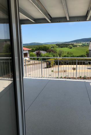 Der unverbaubare Ausblick vom Balkon