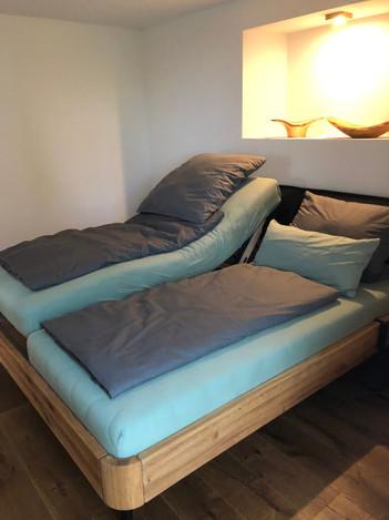 Schlafzimmer der Wohnung Rehkitz