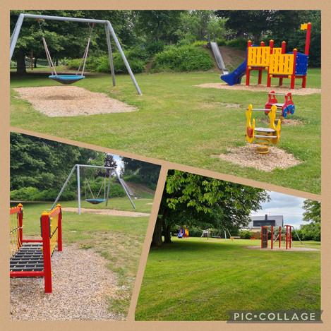 Der weitläufige Spielplatz, mit viel Freifläche, befindet sich in direkter Nachbarschaft zu unserer Erholungsoase.  Entfernung: 100m