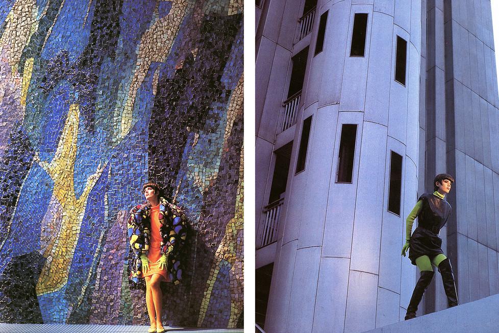 Thierry Mugler campaign Paris 1985 AD Hugues Ternon  model Eléonore Klarwein