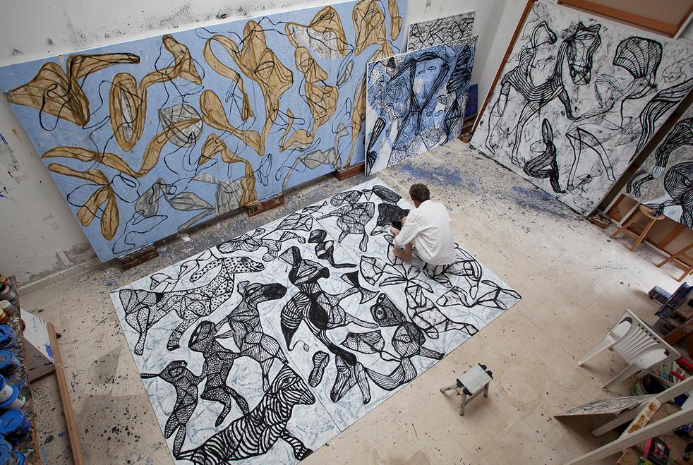 Gam Klutier in his Pulpos studio.  Peru 2014