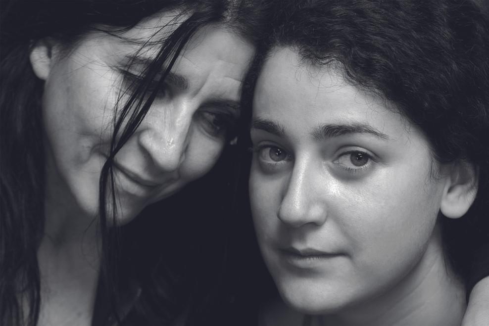 Lita Cabellut and Martha. Paris 2011