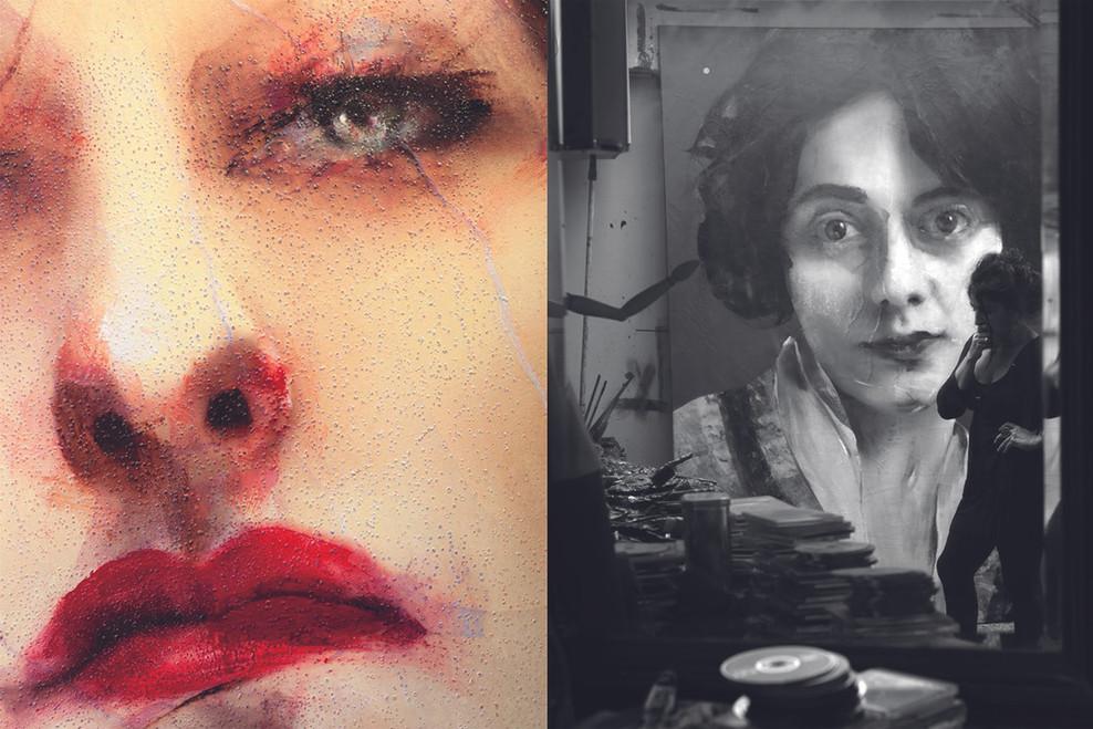 Lita Cabellut.  The Hague studio 2011
