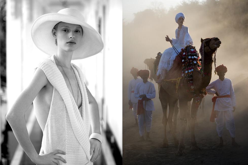 Eline van Uden Elegance. Rajastan, India 2007 styling Jaap Mark de Jong.