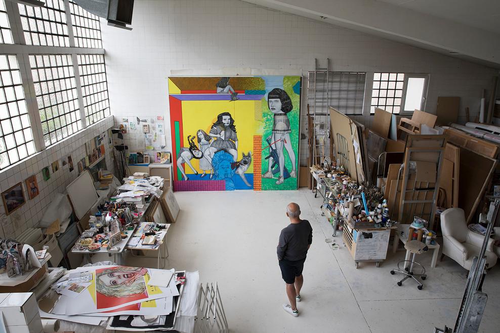 Pat Andrea Paris studio may 2018