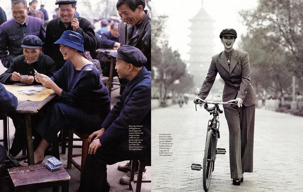 Linda Spierings  Elegance China 1995 styling Maarten Spruyt