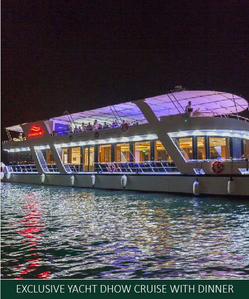 EXCLUSIVE YACHT DHOW CRUISE WITH DINNER