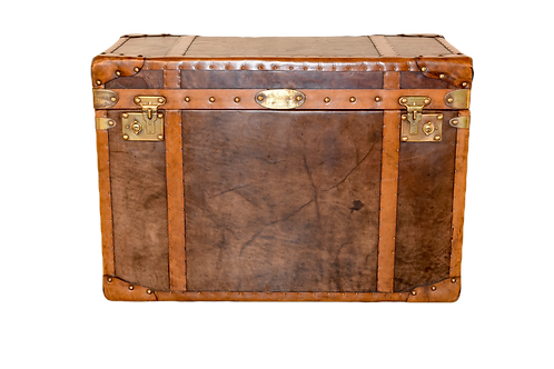 20th Century Refurbished Leather Trunk