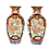 Thumbnail: Pair, Imari Vases