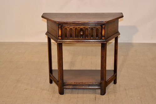Late 19th C. Six Sided Side Table