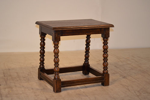 19th c. Oak Stool