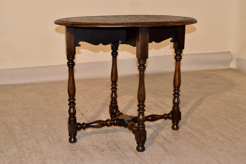 oval side table. Carved Oval Side Table