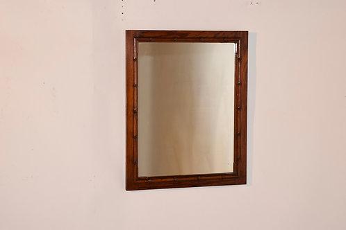 19th-C. Faux Bamboo Mirror