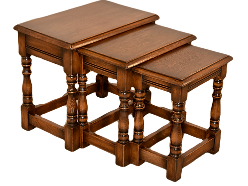 English Nest of Three Tables, c. 1900