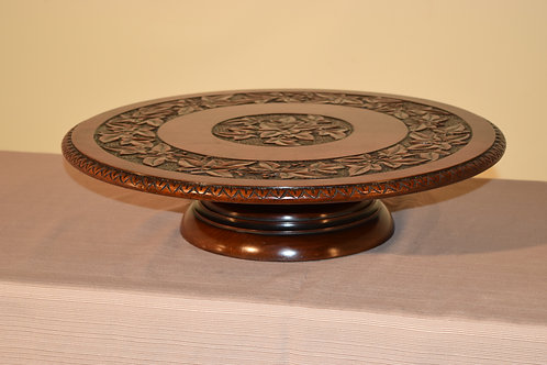 19th c. Carved Lazy Susan