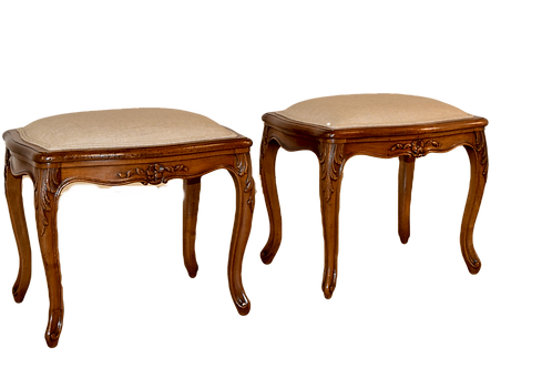 Pair of 19th C French Stools