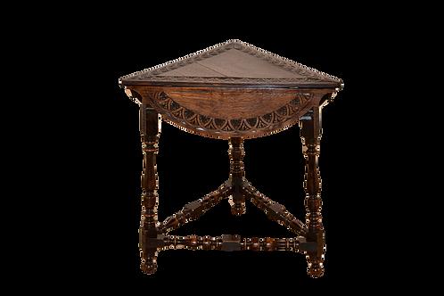 19th C Handkerchief Table