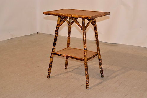 19th-C. French Bamboo Table