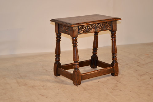 19th c. English Carved Joint Stool