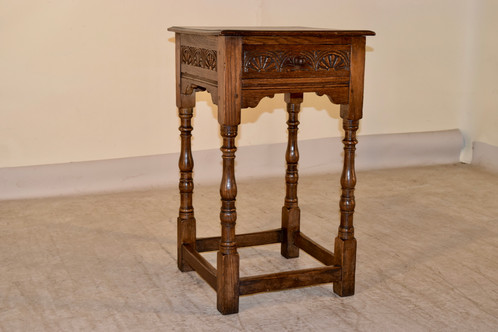 Good Late 19th C. Side Table With Drawer