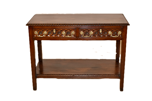 Console with Carved Drawers