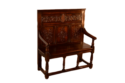 Carved Settle