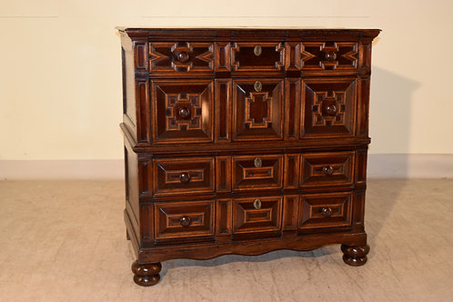 17th c . Geometric Chest of Drawers