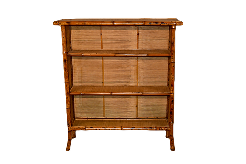 19th C. French Bamboo Bookcase