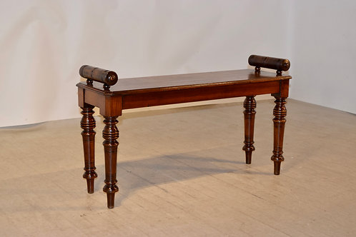 19th C. Mahogany Window Seat