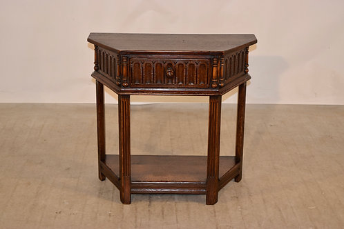 19th C.  English Side Table with Single Drawer