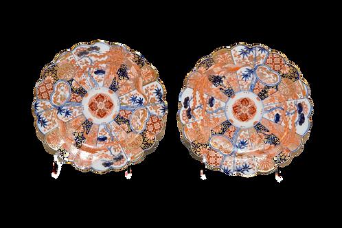 Pair of late 19th C Imari Plates