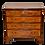 Thumbnail: 19th C. English Walnut Chest of Drawers