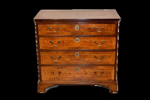 19th C. English Walnut Chest of Drawers