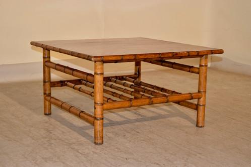 faux bamboo coffee table | blacksheepantiquesnc