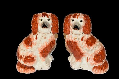 19th C. Pair of Staffordshire Spaniels