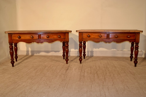 Pair Of Pine Console Tables