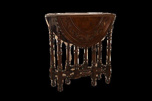19th C. English Carved Gateleg Table