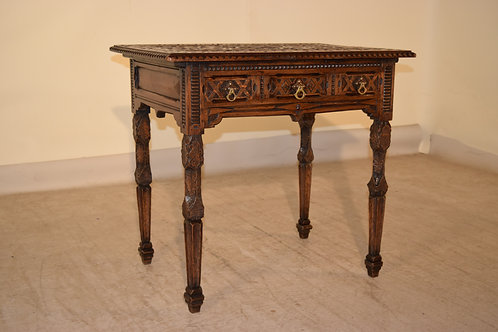 19th C. Folk Art Side Table