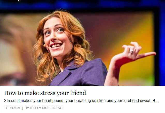 On Facebook: Stress by Kelly Mcgonigal on TedTalk