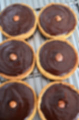 Tartelette au chocolat absolue, noisette