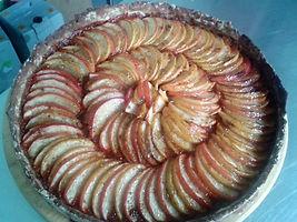 Tarte aux pommes gelée de pissenlit