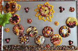 Desert enver ! Assortiment de tartelettes à l poire et crème pâtissière